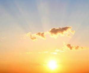 stralende zon